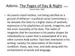 adonis the pages of day night trans samuel hazo 2000