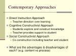 contemporary approaches