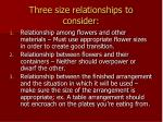 three size relationships to consider