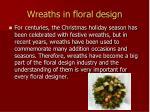 wreaths in floral design