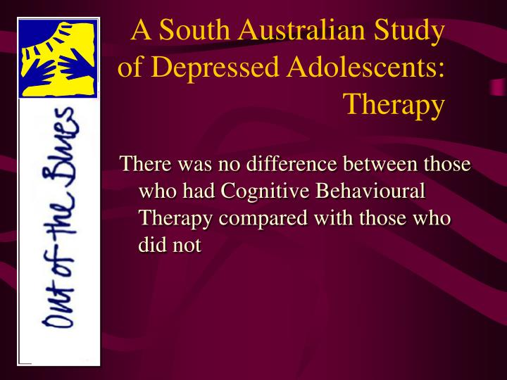 A south australian study of depressed adolescents therapy