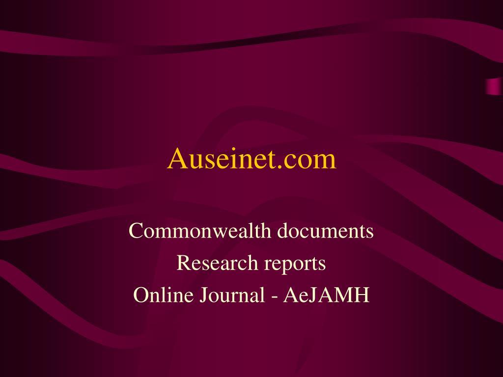 Auseinet.com
