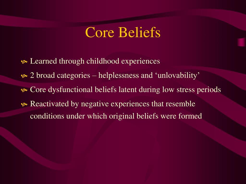 Core Beliefs