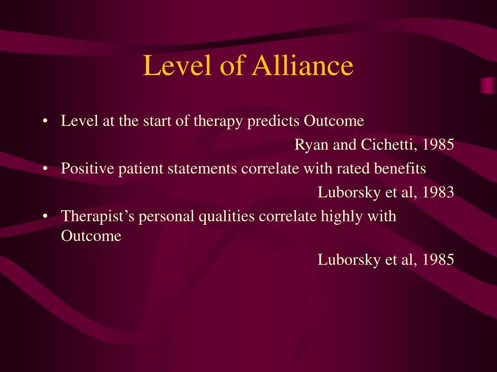 Level of Alliance