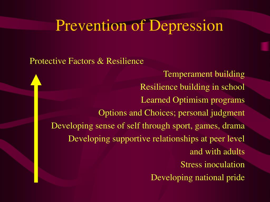 Prevention of Depression