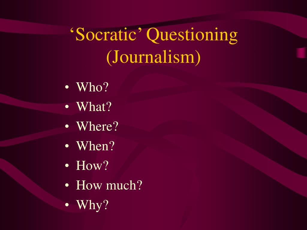 'Socratic' Questioning
