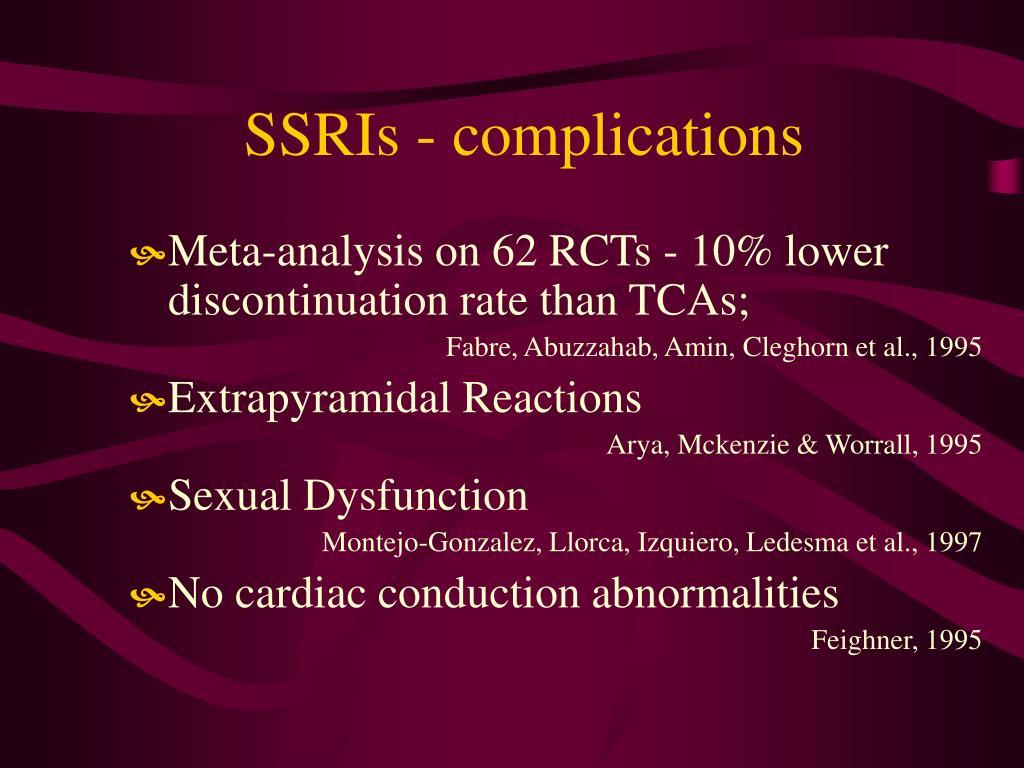 SSRIs - complications