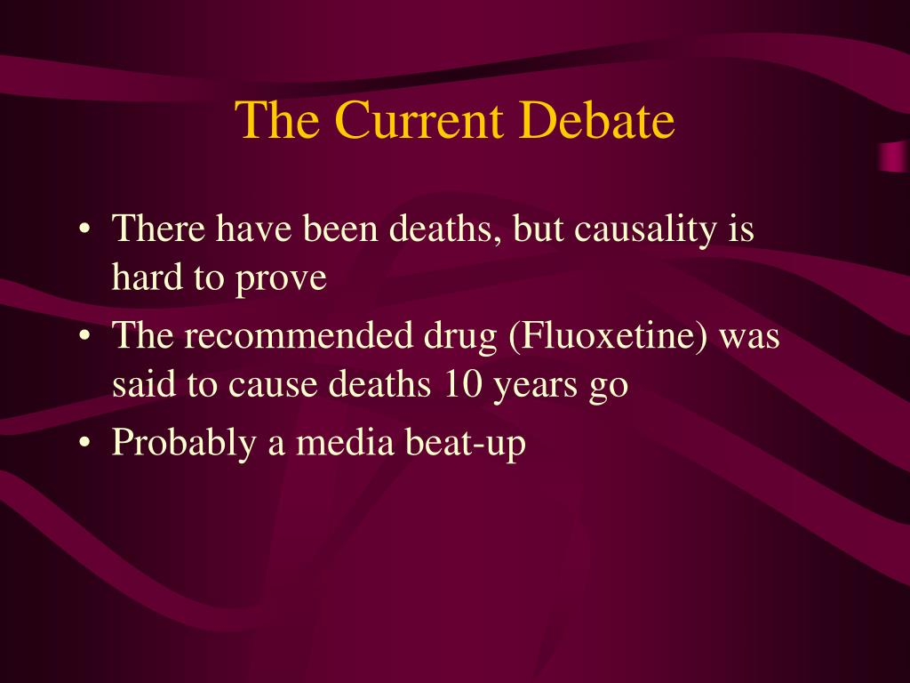 The Current Debate