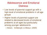 adolescence and emotional distress14