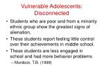 vulnerable adolescents disconnected