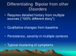 differentiating bipolar from other disorders