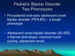 pediatric bipolar disorder two phenotypes