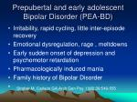 prepubertal and early adolescent bipolar disorder pea bd