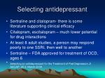 selecting antidepressant30