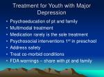 treatment for youth with major depression