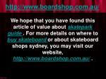 http www boardshop com au9