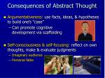 consequences of abstract thought