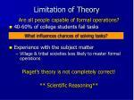 limitation of theory