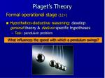 piaget s theory