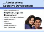 adolescence cognitive development