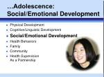 adolescence social emotional development