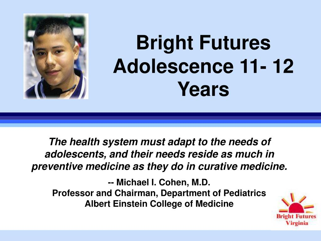 bright futures adolescence 11 12 years l.