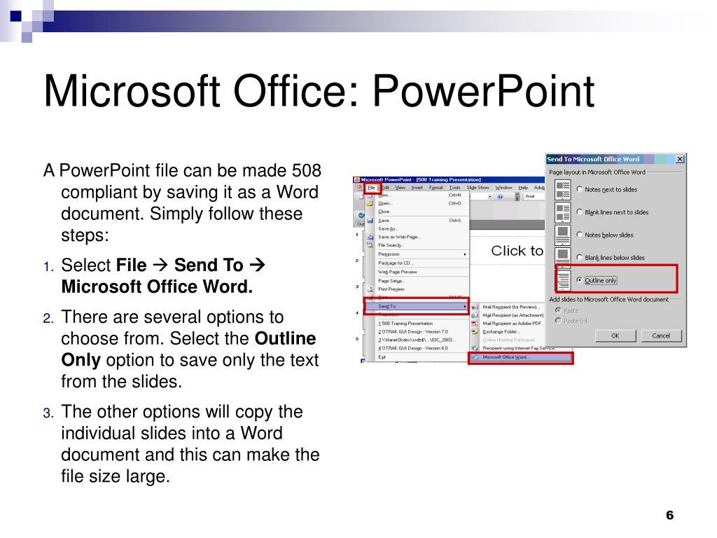 Microsoft Office: PowerPoint