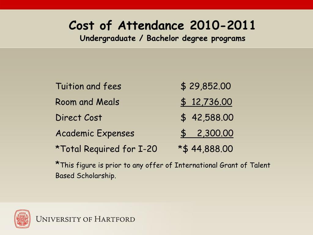 Cost of Attendance 2010-2011