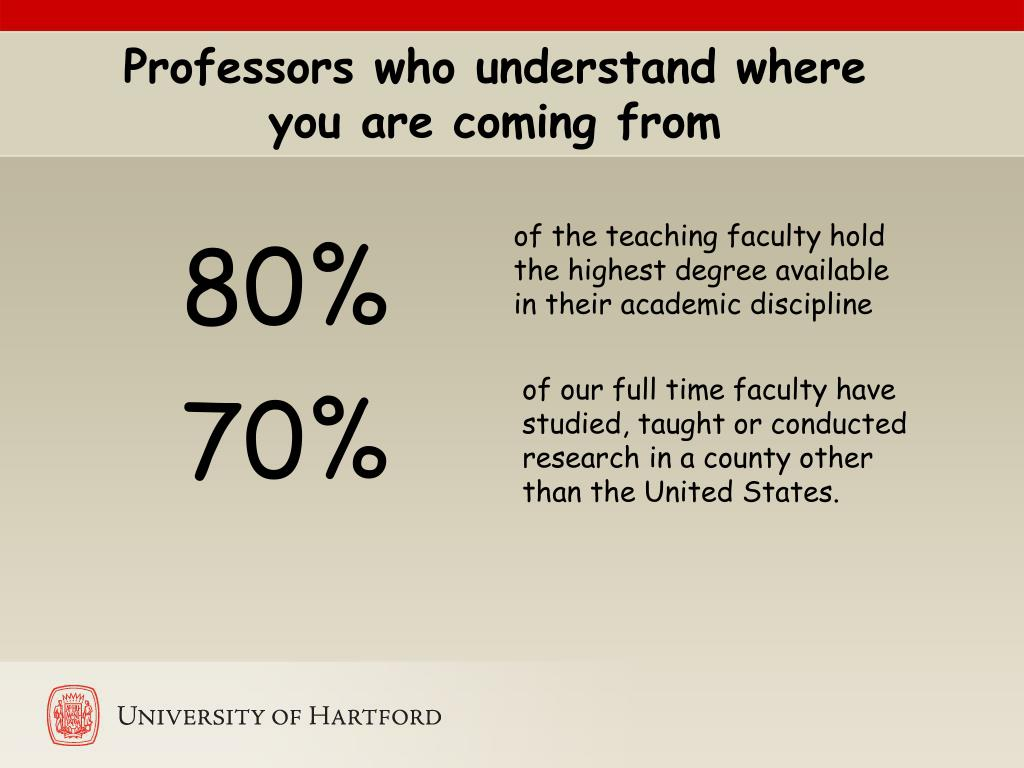 Professors who understand where you are coming from