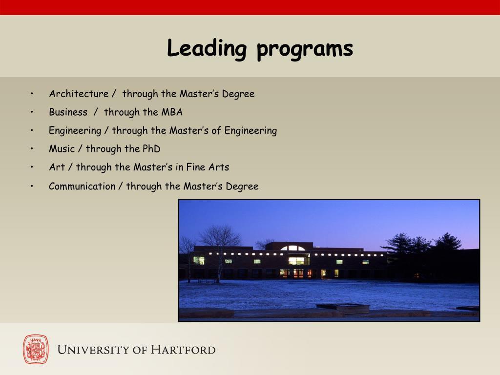 Leading programs