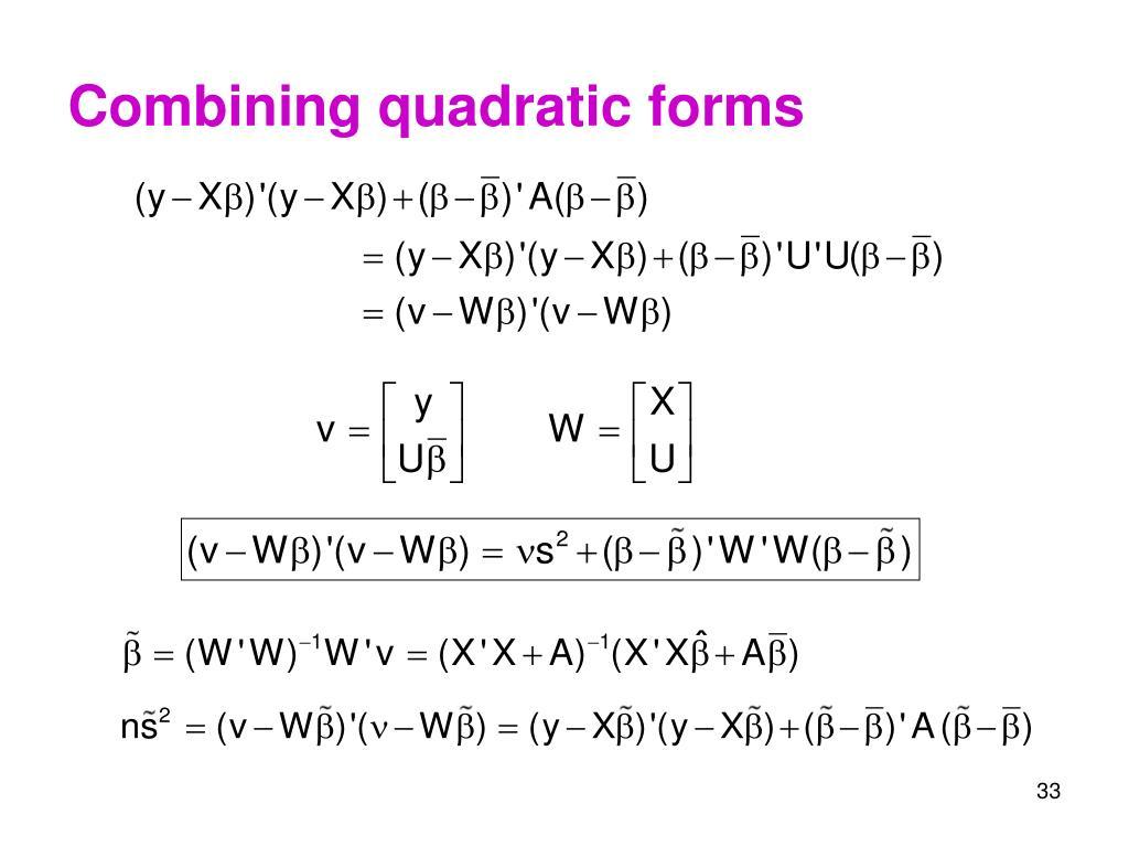 Combining quadratic forms