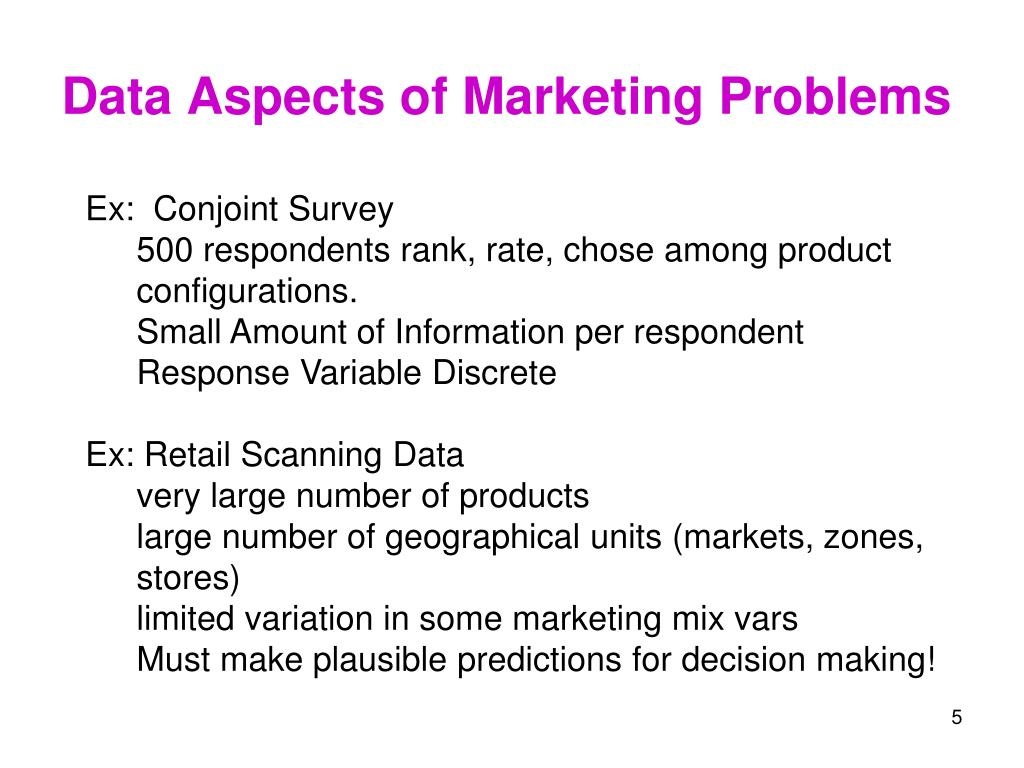 Data Aspects of Marketing Problems