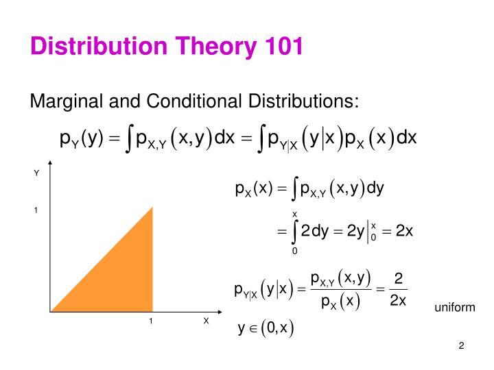 Distribution theory 101