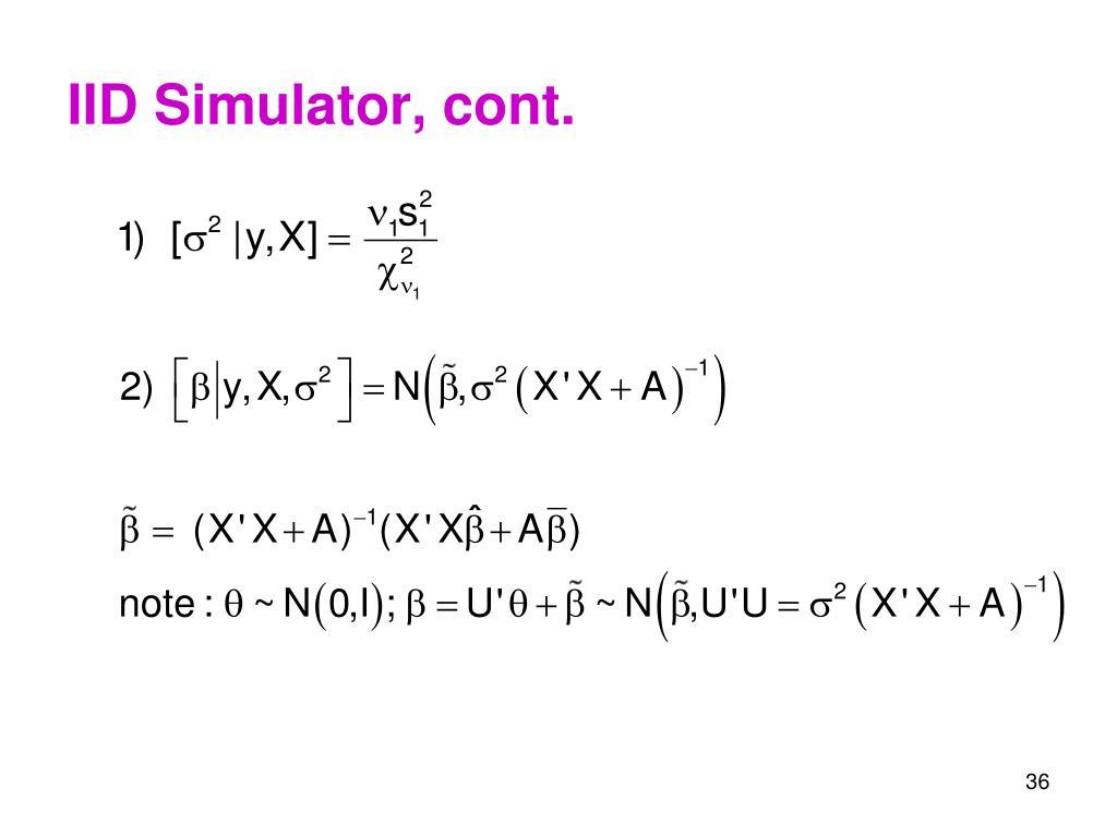 IID Simulator, cont.