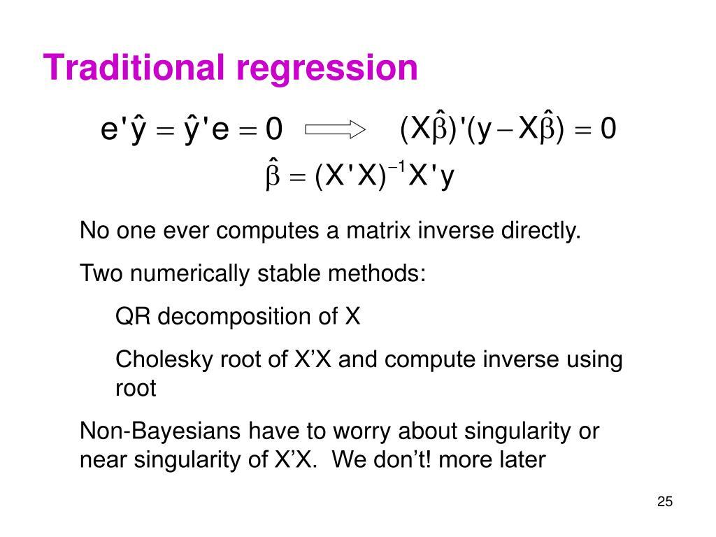 Traditional regression