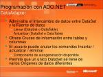 programaci n con ado net dataadapter