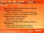 programaci n con ado net dataset