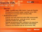 soporte xml ado net y xml