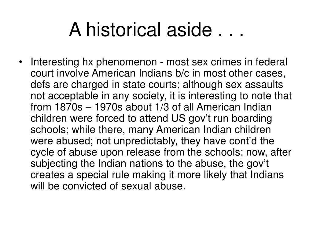 A historical aside . . .