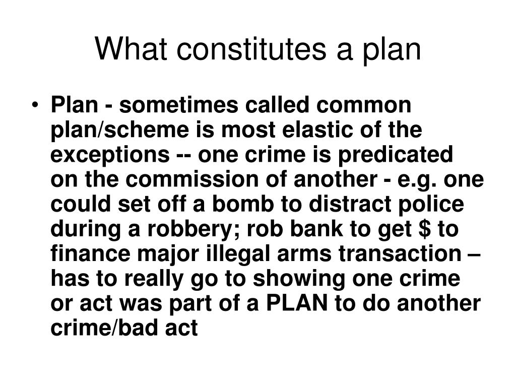 What constitutes a plan