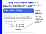 using the electronic form lm 414