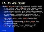 3 4 1 the data provider
