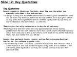 slide 12 key quotations