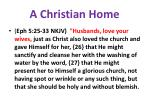 a christian home