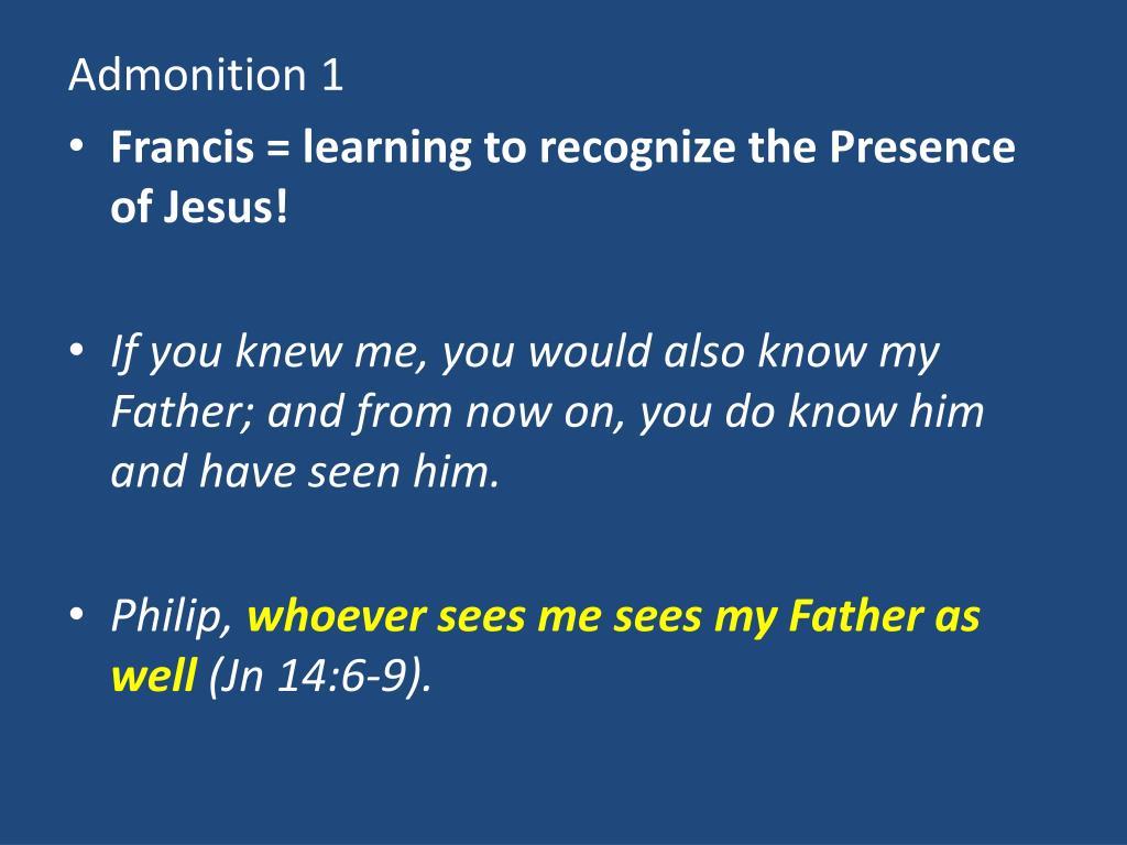 Admonition 1