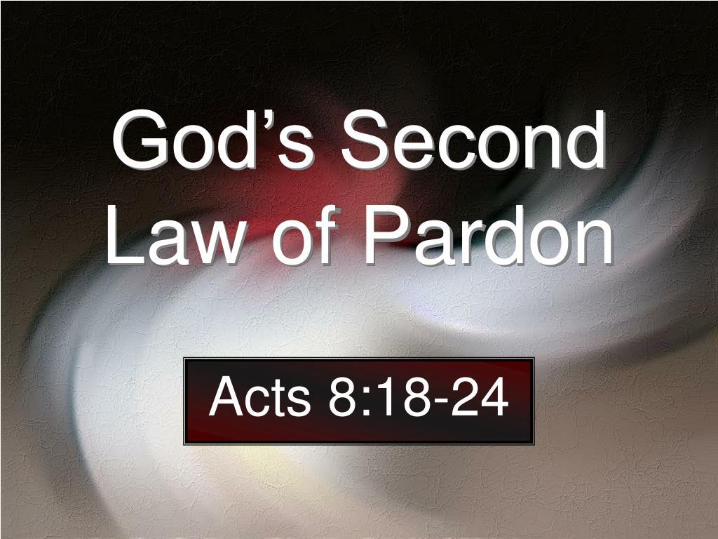 god s second law of pardon l.