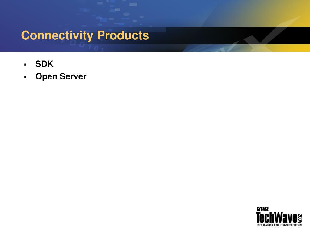 Connectivity Products