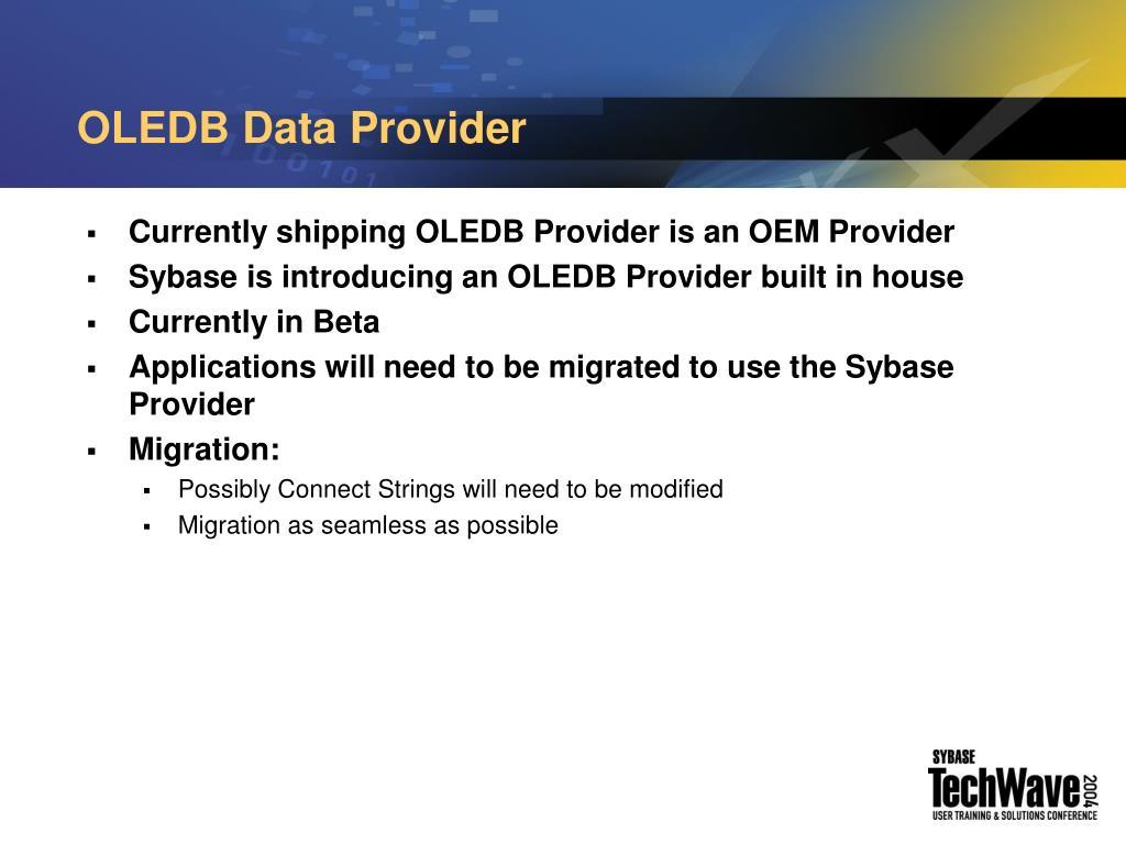 OLEDB Data Provider