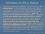 definition of lpn in statute
