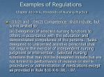 examples of regulations chapter 610 x 6 standards of nursing practice57